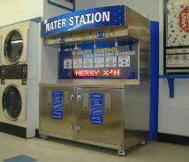 An alternate installation of a WS4 Water Vending Machine with Scrolling Electronic Message Board!